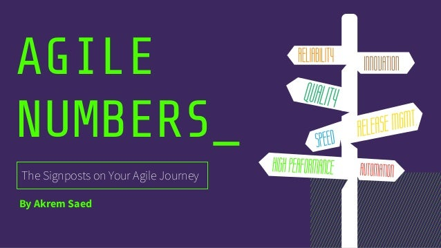 AGILE NUMBERS_ The Signposts on Your Agile Journey By Akrem Saed