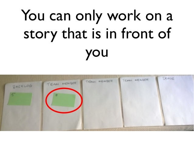 You can only work on a  story that is in front of  you