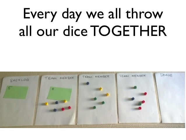 Every day we all throw  all our dice TOGETHER