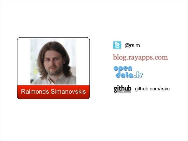 @rsim                          github.com/rsimRaimonds Simanovskis