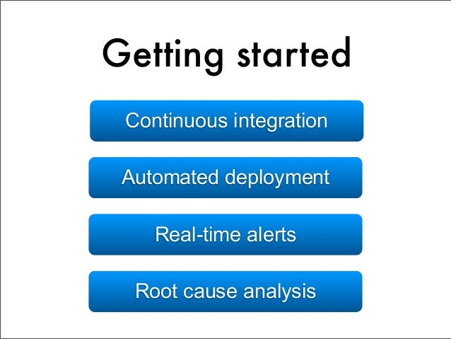 Good practicesZero-downtime deployments      Feature flags     Gradual rollouts     A/B split testing