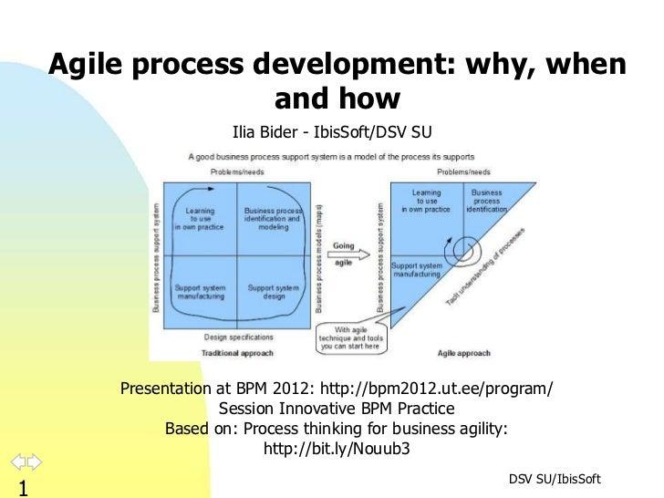 Agile process development: why, when                   and how                      Ilia Bider - IbisSoft/DSV SU        Pr...