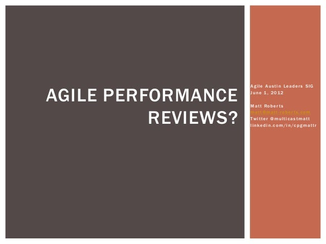 Why Did We Stop Annual Performance Reviews When Adopting Agile?