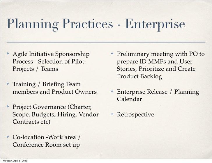 Agile Planning 2010
