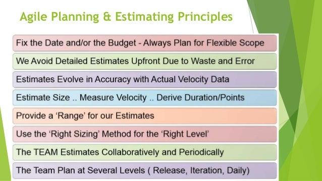 Agile Planning & Estimating Principles