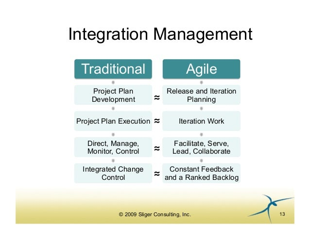 Agile project management for pmp 39 s for Agile vs traditional methodologies