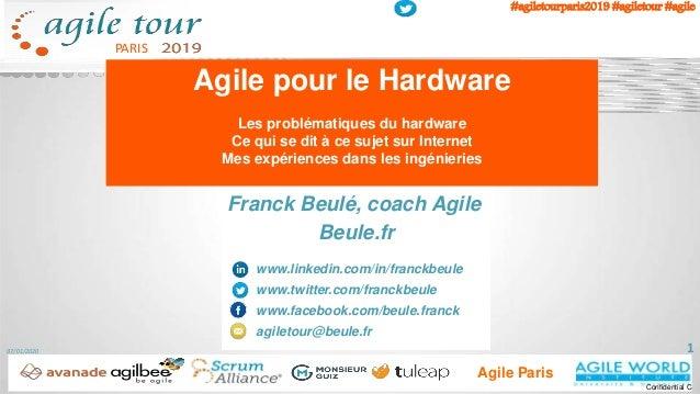 PARIS #agiletourparis2019 #agiletour #agile Agile Paris Confidential C Franck Beulé, coach Agile Beule.fr www.linkedin.com...