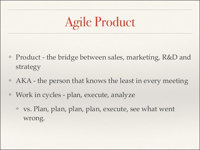 Agile product development in big companies for Product development companies