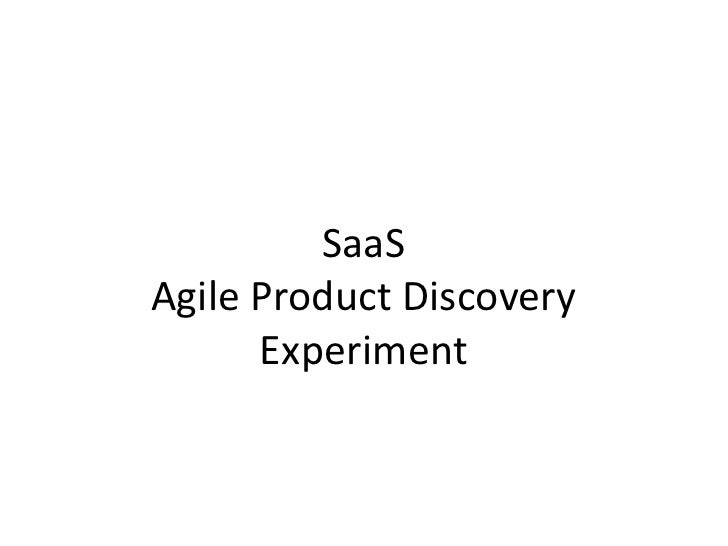 SaaSAgile Product DiscoveryExperiment<br />