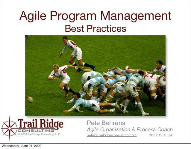 Agile Program Management                                                Best Practices                                    ...