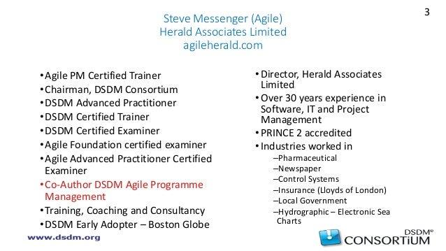 Agile programme management (Steve Messenger) Slide 3