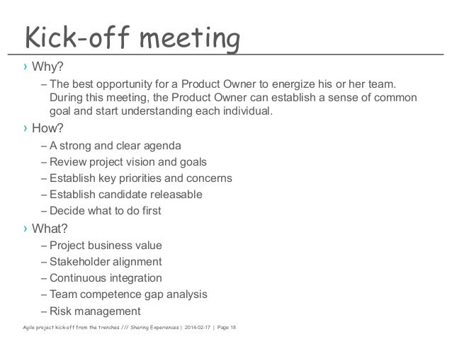 Kick Off Meeting Agenda Example Image Gallery  Hcpr