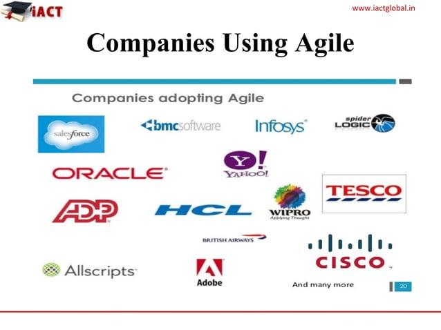 www.iactglobal.in Companies Using Agile