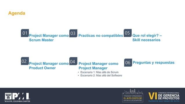 Roles y responsabilidades – Scrum Master • Motivación • Equipo alto rendimiento • Empoderar al equipo • Lider servicial • ...