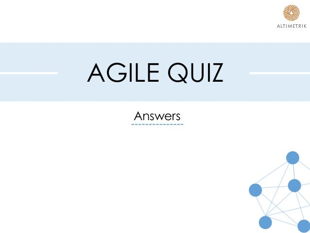 agile quiz with answers pdf
