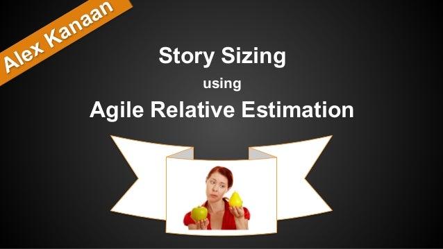 Story Sizing using Agile Relative Estimation Alex Kanaan