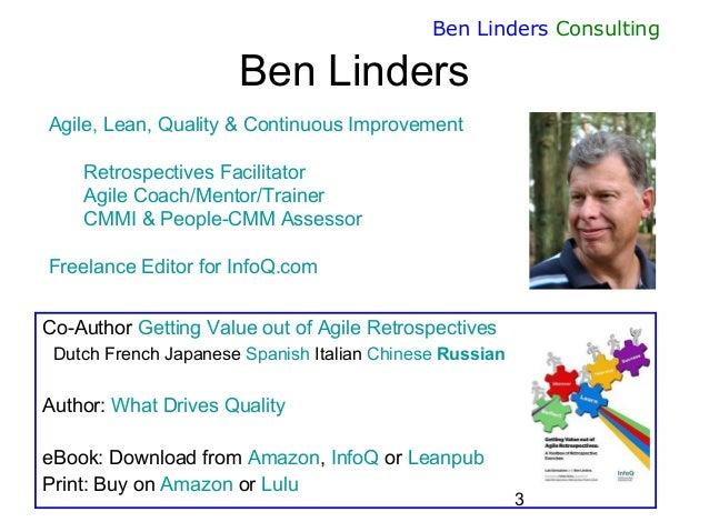 Sustainable Improvement through Agile Retrospectives - AgileEE 2015 - Ben Linders Slide 3