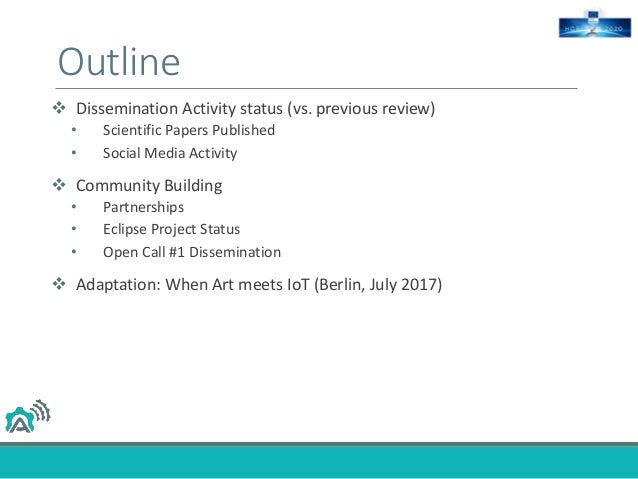 Dissemination and Community Building Slide 2