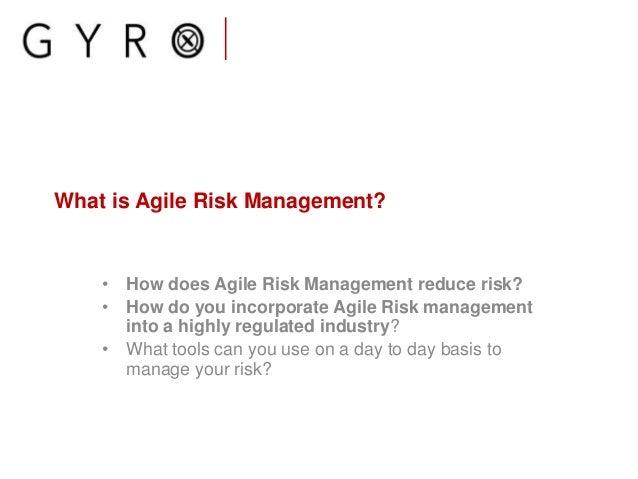 Agile risk management in regulated industry Slide 3