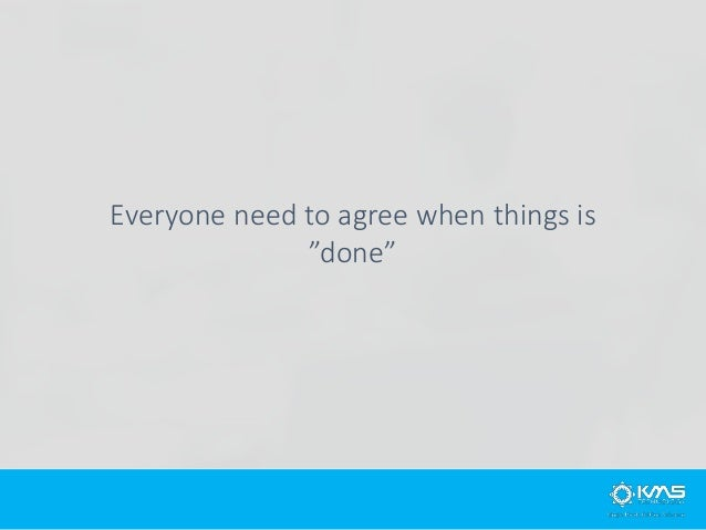 We only have two status in Scrum: Done and Un-Done
