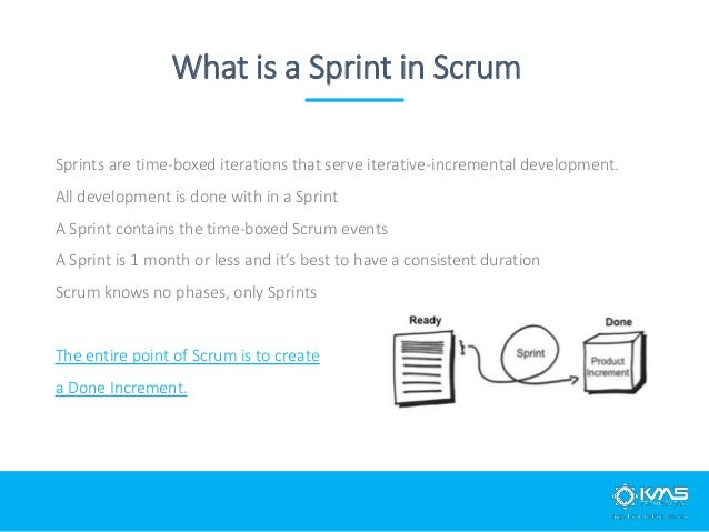 15 minutes time-box daily Consistent place and time Development team inspect their progress toward the Sprint goal Develop...