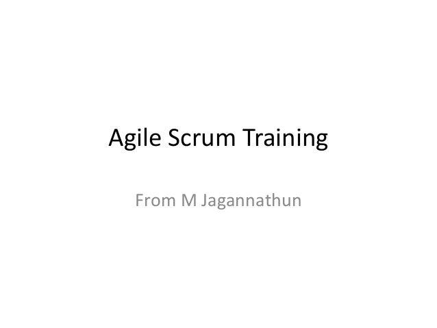Agile Scrum Training From M Jagannathun