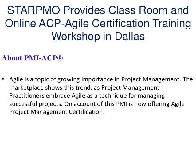 STARPMO Provides Class Room and Online ACP-Agile Certification Traini…