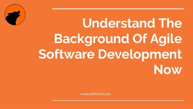Understand The Background Of Agile Software Development Now www.wolfmatrix.com