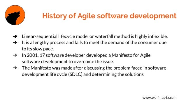 Understand the background of Agile software development now Slide 2