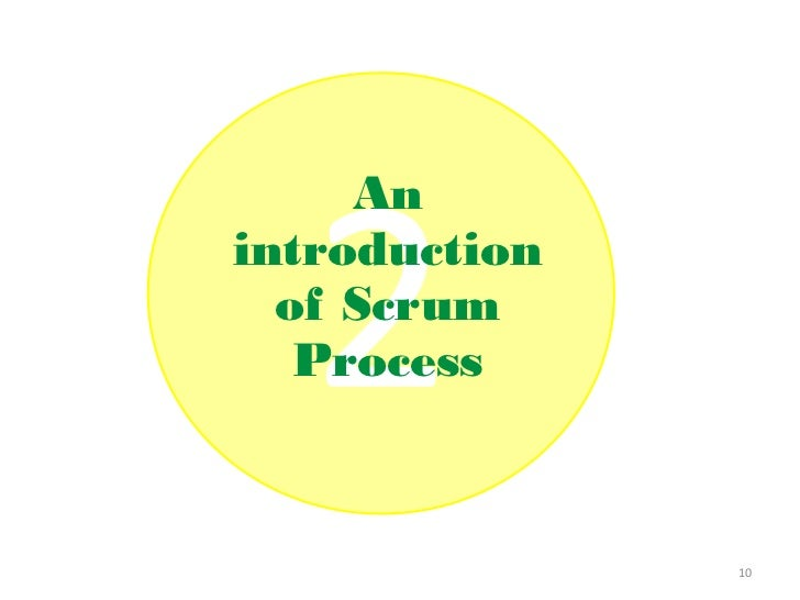Anintroduction  of Scrum   Process               10