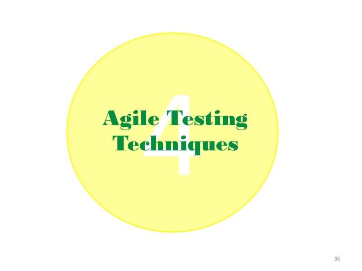 Agile Testing Techniques                36