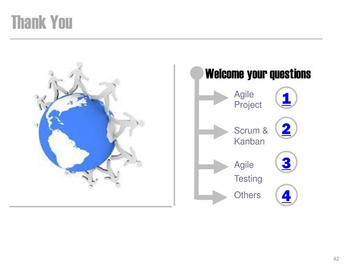 Thank You            Welcome your questions                 Agile                 Project   1                 Scrum &   2 ...