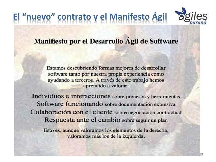 """El """"nuevo"""" contrato y el Manifesto Ágil                                          18"""
