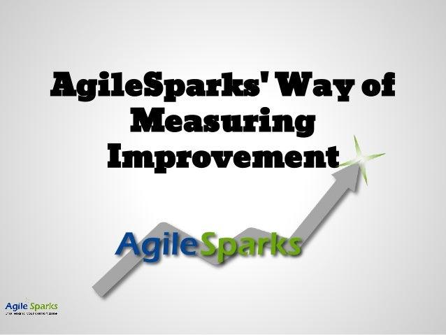 AgileSparks' Way of Measuring Improvement