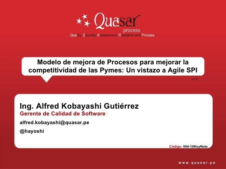 Metodologia de Mejora Continua de Procesos AgileSPI