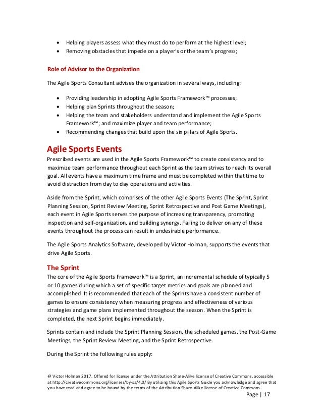 Agile sports guide a blueprint for increasing player value improvi 17 malvernweather Gallery
