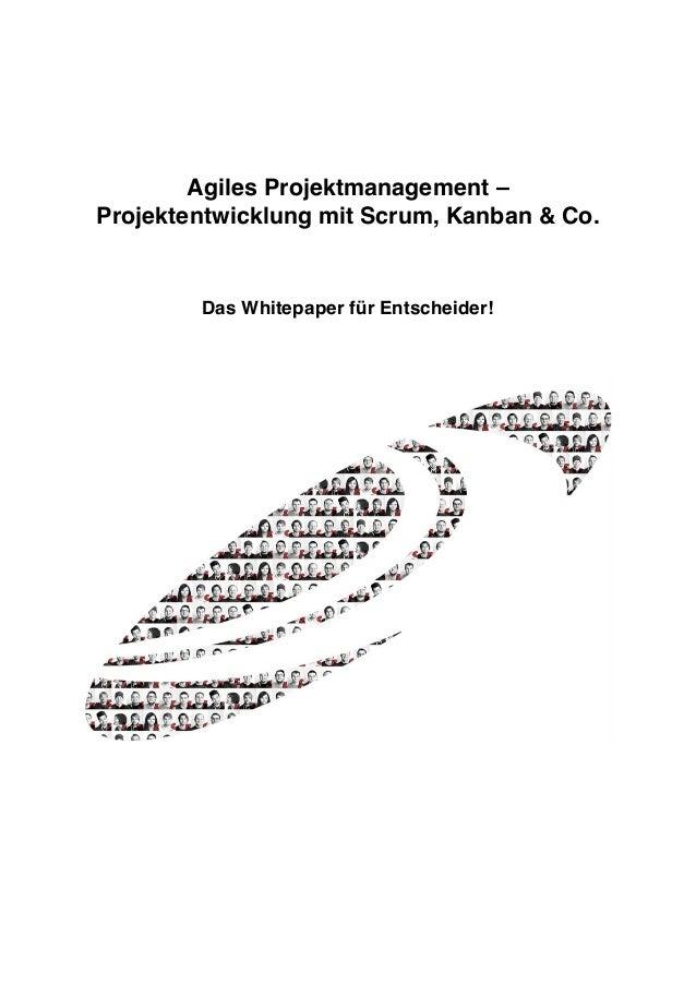 Agiles Projektmanagement – Projektentwicklung mit Scrum, Kanban & Co. Das Whitepaper für Entscheider!
