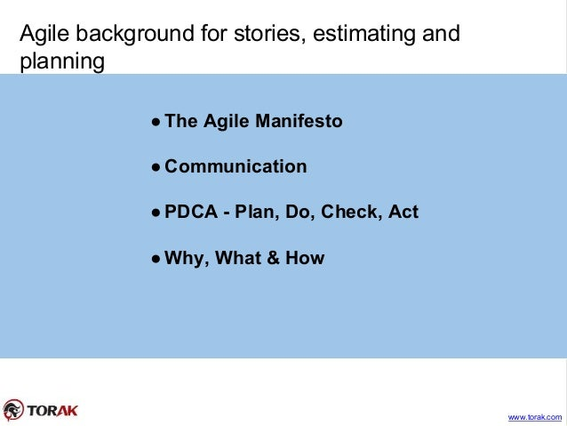 Agile stories, estimating and planning Slide 3