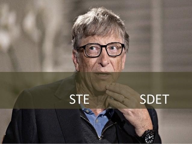 45 換個不俗的 微軟把 STE 全換成 SDET