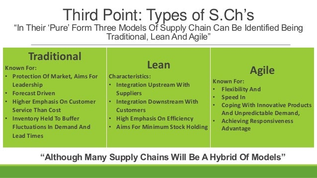 lean and agile supply chain