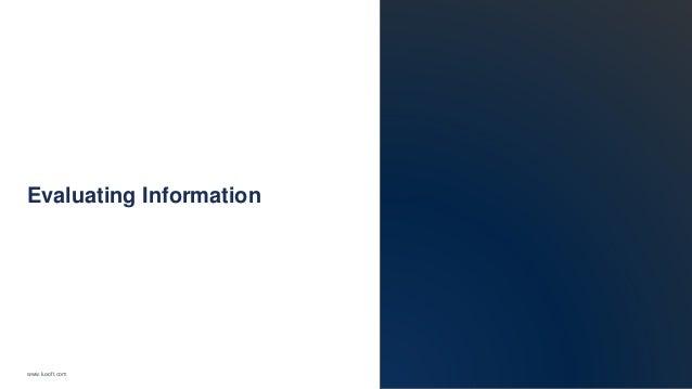 www.luxoft.com Evaluating Information