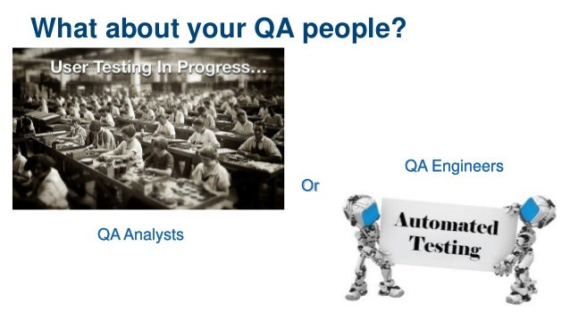 What about your QA people? Or QA Analysts QA Engineers