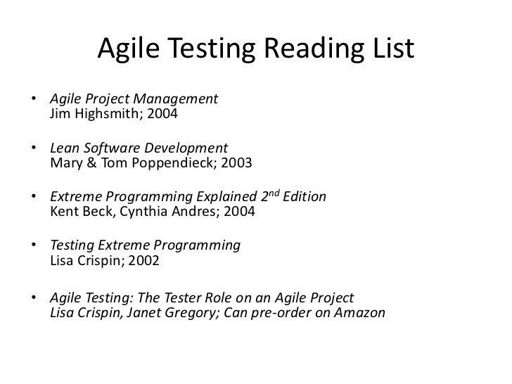 Agile Testing ...