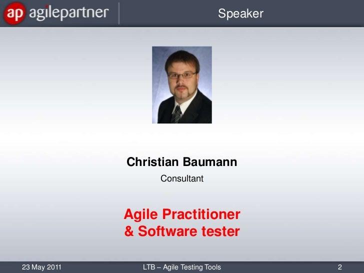 Agile test tools Slide 2