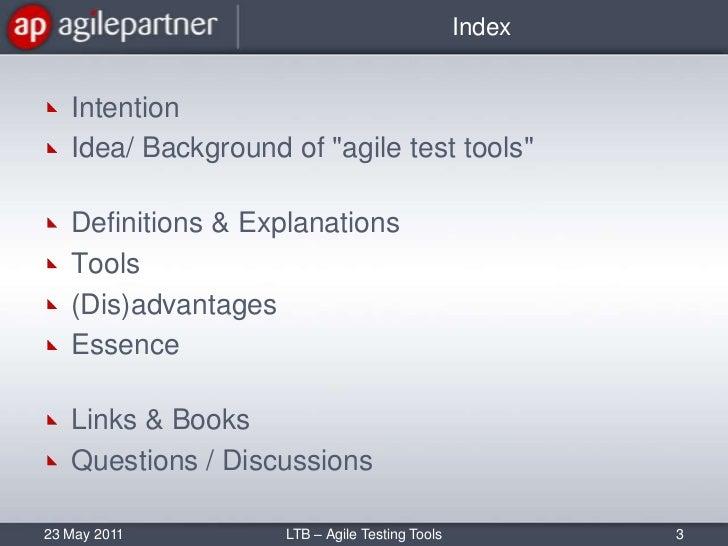 Agile test tools Slide 3