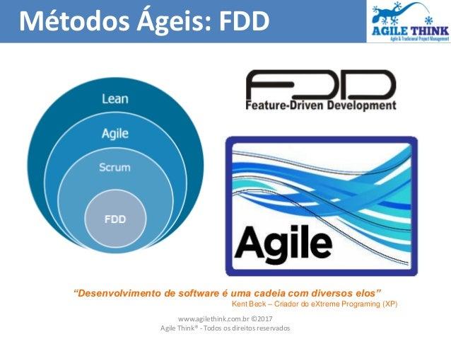 """Métodos Ágeis: FDD """"Desenvolvimento de software é uma cadeia com diversos elos"""" Kent Beck – Criador do eXtreme Programing ..."""
