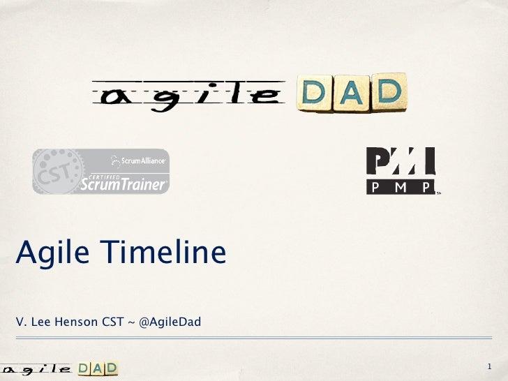 Agile TimelineV. Lee Henson CST ~ @AgileDad                                1