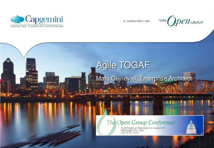 in collaboration withAgile TOGAFMats Gejnevall, Enterprise Architect