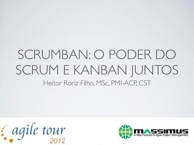 SCRUMBAN: O PODER DOSCRUM E KANBAN JUNTOS   Heitor Roriz Filho, MSc, PMI-ACP, CST                  ¡Œ`1111