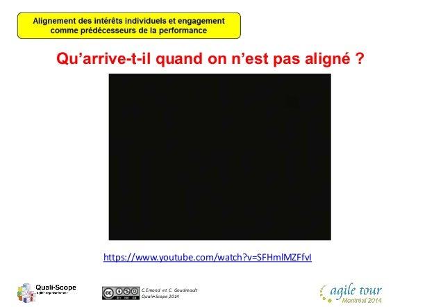 C.Emond et C. Goudreault Quali•Scope 2014 Qu'arrive-t-il quand on n'est pas aligné ? https://www.youtube.com/watch?v=SFHml...